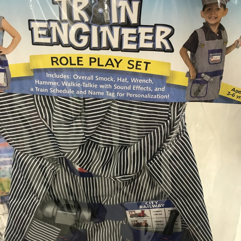 Costume Train Engineer, 3-6, Size: Pretend
