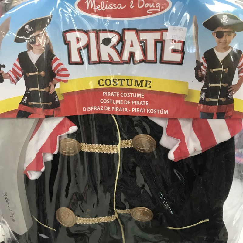 Costume Pirate, 3-6, Size: Pretend