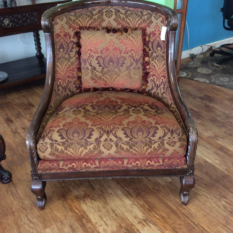 BARGAIN ALERT!!!! I called this handsome chair a BERGERE, because that is what it is most similar style I could find. This one also has an identical twin that is available for purchase seperately. There are signs of wear and tear on both, but they are still in great shape. They are EACH for sale for $295 apiece.