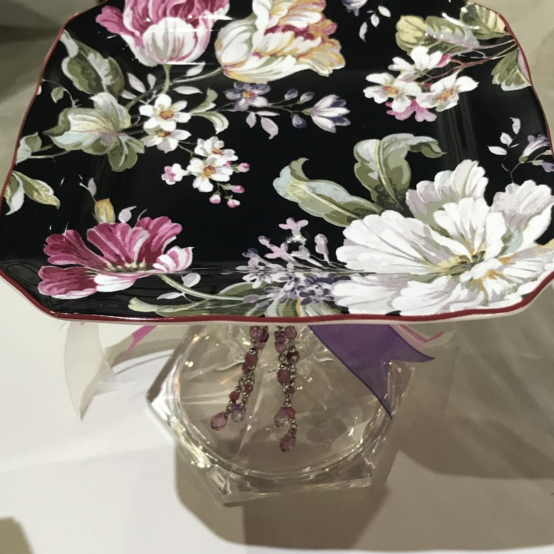 Handmade pedestal candy or jewelry dish<br /> Featured by Upscale Resale