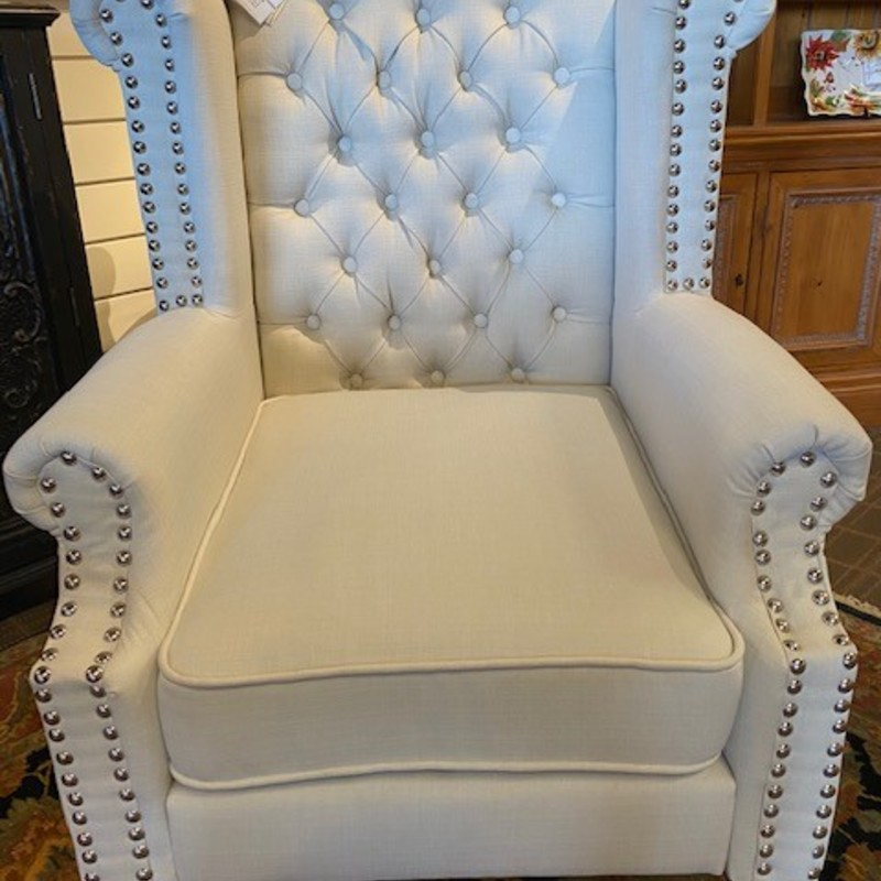 "Accent Trend Tufted Chair<br /> Creme Size 31"" x 24"" x 42""H<br /> Matching chair sold separately"