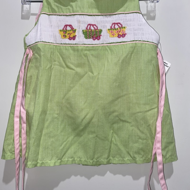 Smocked 2pc Set, Green, Size: 24m Girl