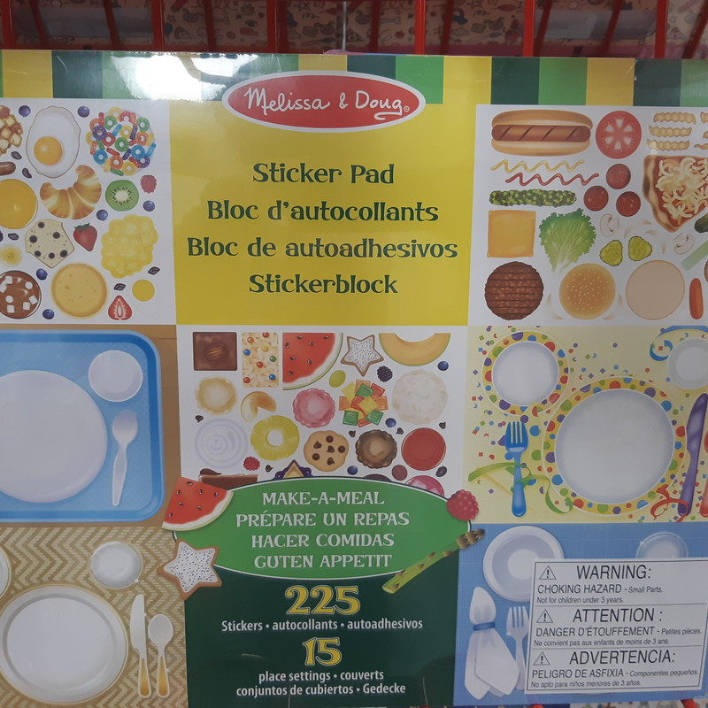 Make A Meal Sticker Pad, 225 Piec, Size: Stickers