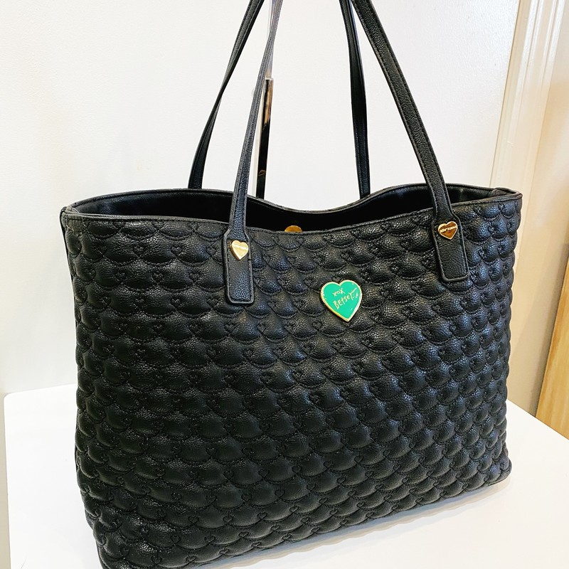 "Betsy Johnson, Black, Size: Tote<br /> LIKE NEW CONDITION<br /> 16"" x 11"""
