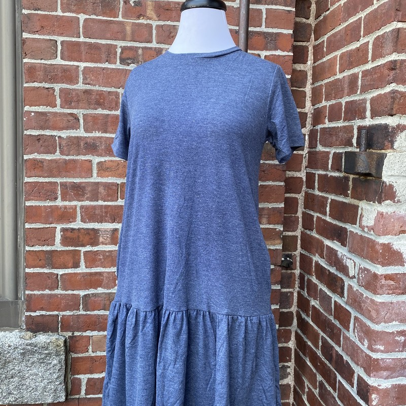 Brand New Tshirt Dress W/, Blue, Size: Large