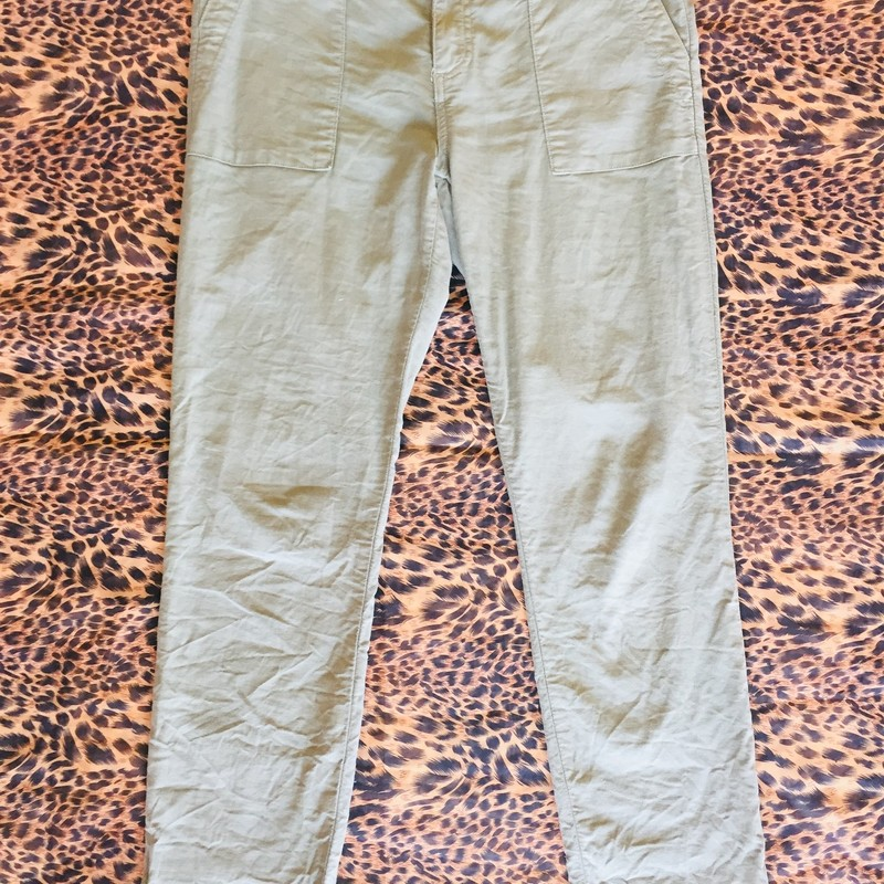 Joie Cotton Pant. These were lightly worn, but has no signs of damage. Size 29; Green