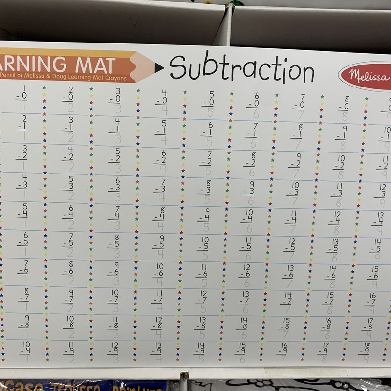 Subraction Learning Mat, 5+, Size: Schoolage