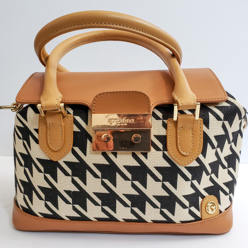 Spartina 449<br /> Stoddard Push Lock Satchel<br /> NWT<br /> Original Retail $179<br /> Long Strap Included