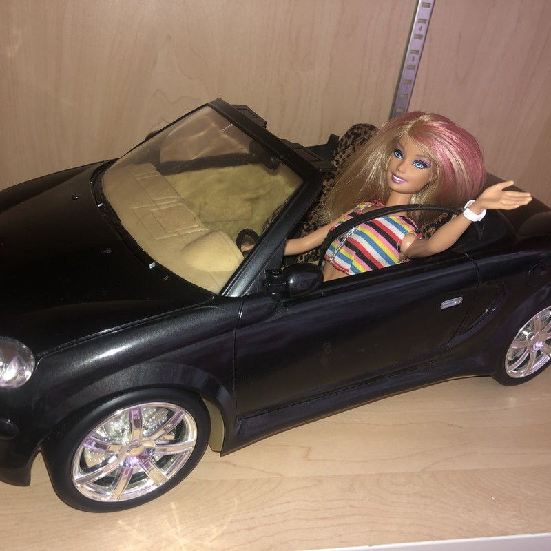 My Scene Black Convertable with Leopard seat covers.<br /> Includes a Barbie