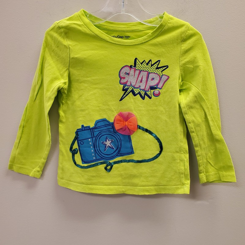Gap LS, Green, Size: 3T - G