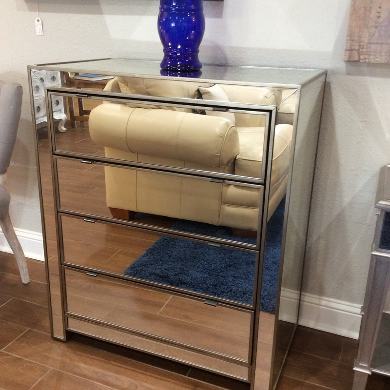 As glamorous as any star from Hollywood's Golden Era, yet as practical as it can be! From Pier 1 Imports, this mirrored chest is all about function with 4 roomy drawers. Add a little pop of glam to your room!