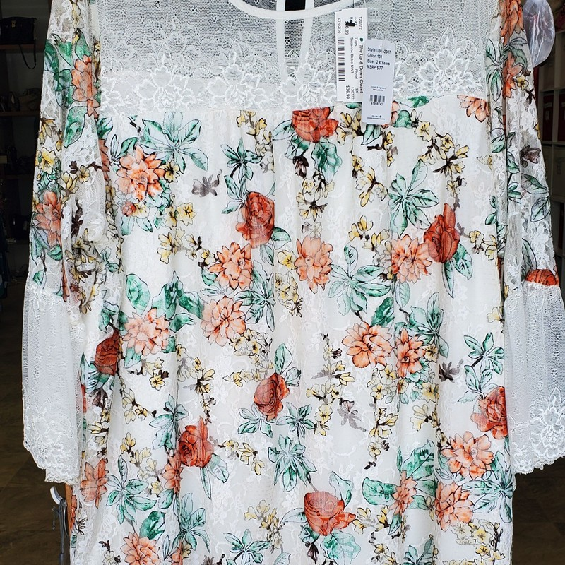 Suzanne Betro NWT, Floral, Size: 2X
