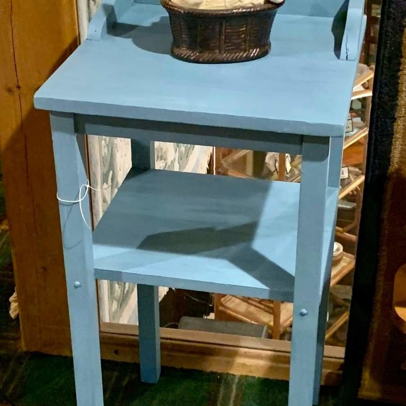 Small Blue 2 Tier Table