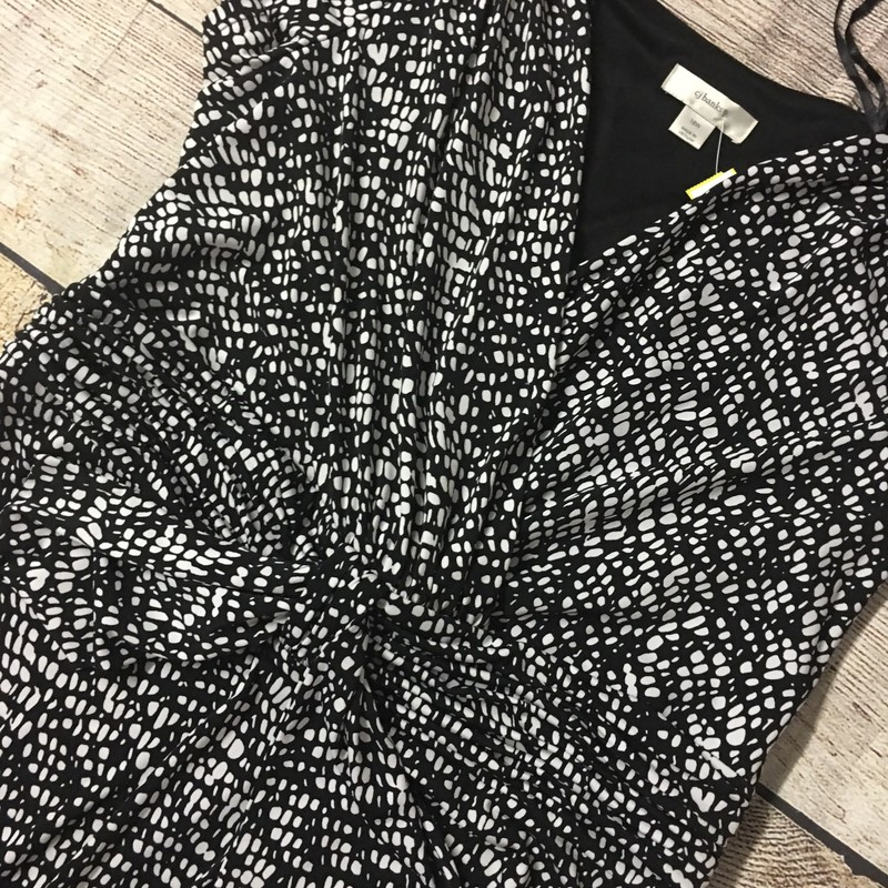 Cj Banks Dress, black with white spots.  Size 18 and in great condition.