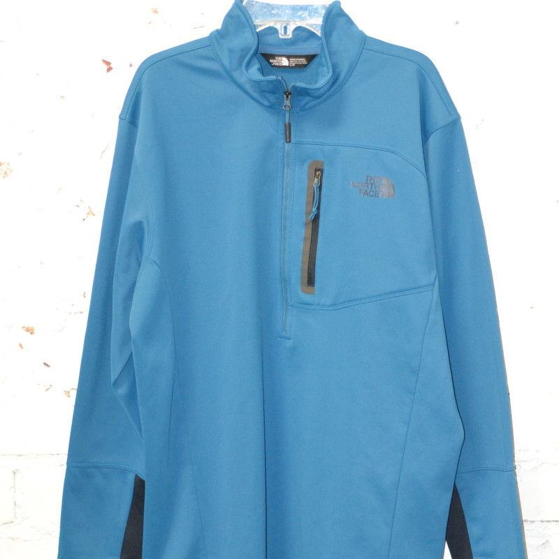 -Northface<br /> -Half Zip<br /> -Pocket with zipper on the chest<br /> -Excellent condition<br /> -Size large