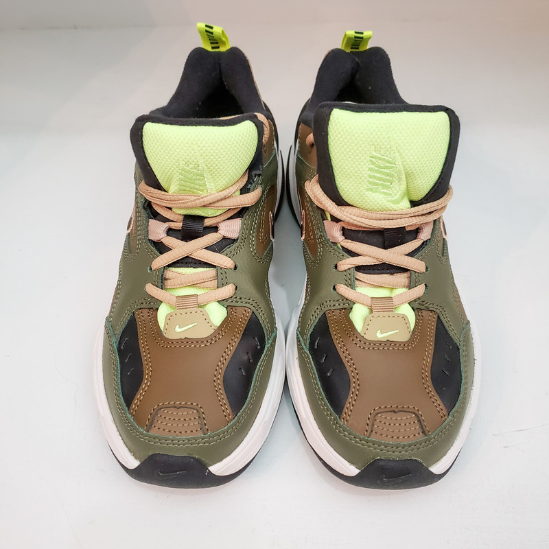 Nike<br /> M2K Tekno<br /> Sneaker<br /> Olive and Brown<br /> Size 6.5