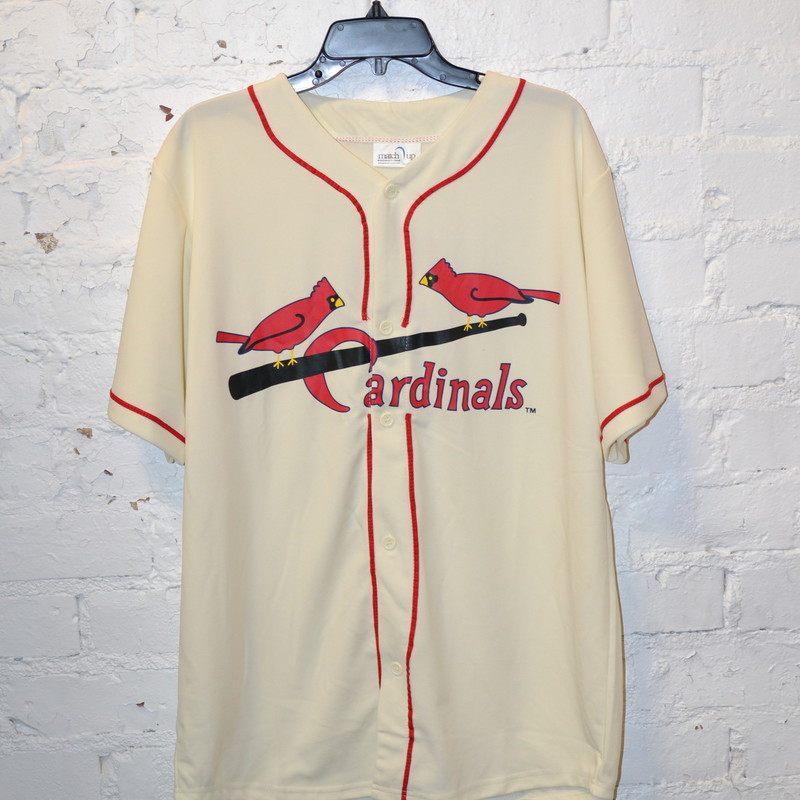 "-Cardinals jersey<br /> -White<br /> -Buttons up the front<br /> -""2"" on the back<br /> -Good condition<br /> -Size XL"