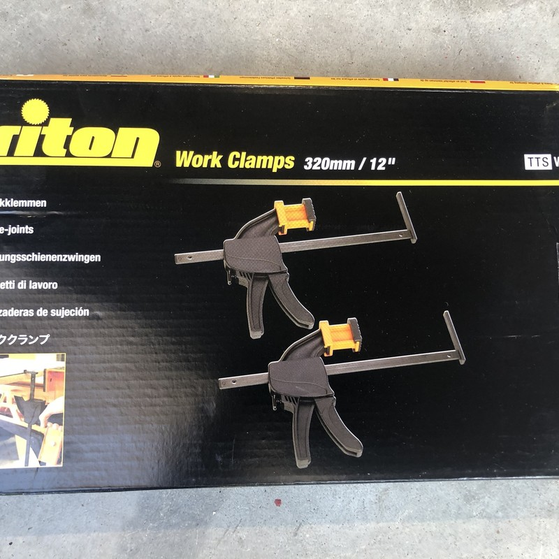 Triton TTSWC 13 in. Work Clamps, PAIR<br /> <br /> *NEVER USED*