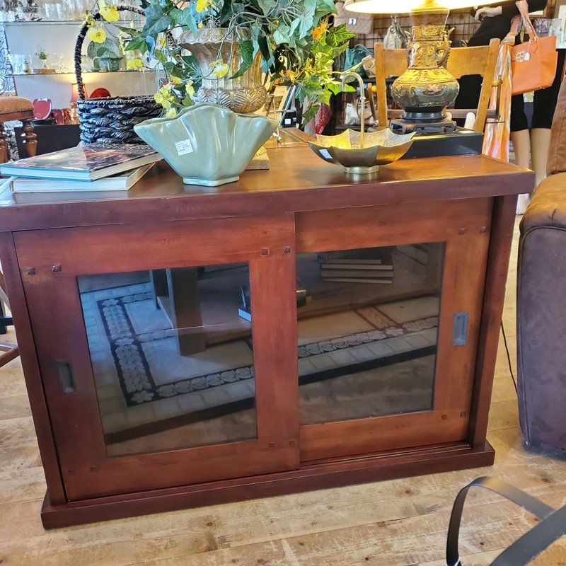 "Tv Stand, Brown, Size: 44""x20""x30"