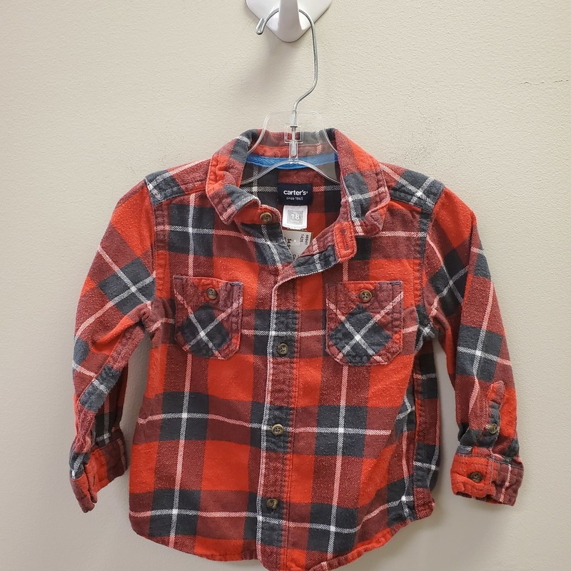 Carters, Plaid, Size: 18 Mos B