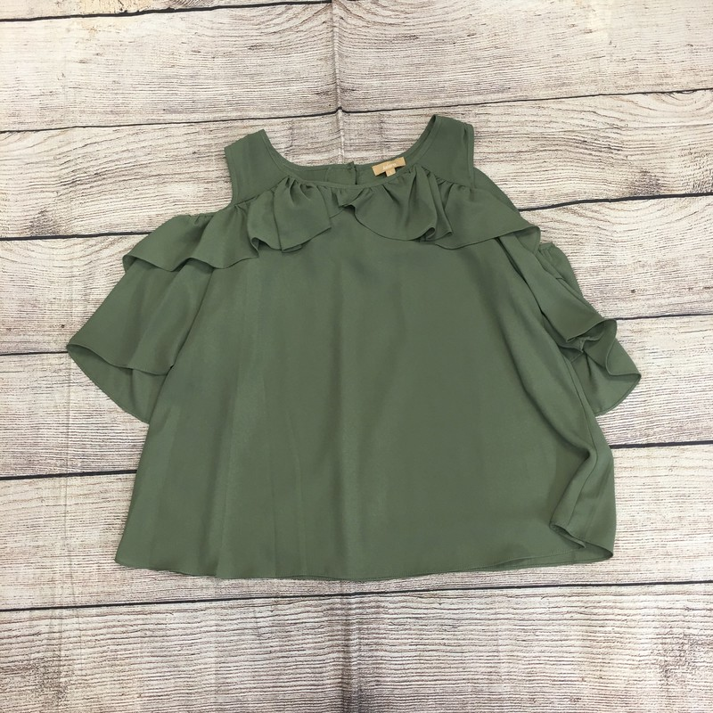 Green top, size large.  In great condition.
