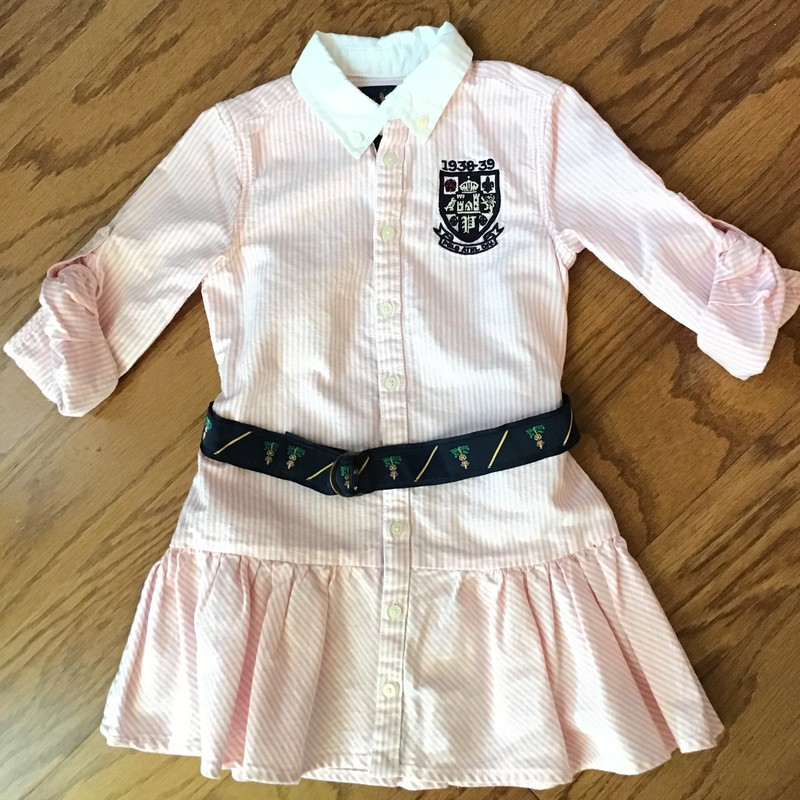 Ralph Lauren Dress, Pink, Size: 3<br /> <br /> <br /> ALL ONLINE SALES ARE FINAL. NO RETURNS OR EXCHANGES. PLEASE ALLOW 1 TO 2 WEEKS FOR SHIPMENT.
