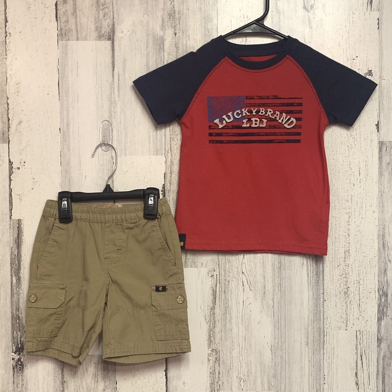 Lucky Brand, Red, Size: 3T
