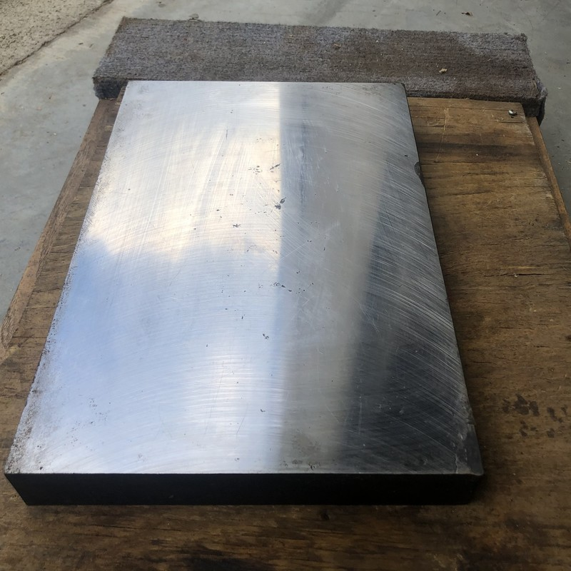 "Steel Bench Block Blacksmith Hammer Plate,<br /> <br /> 14-1/2"" X 9-3/4"" X 1-3/4""<br /> <br /> *VERY HEAVY*"