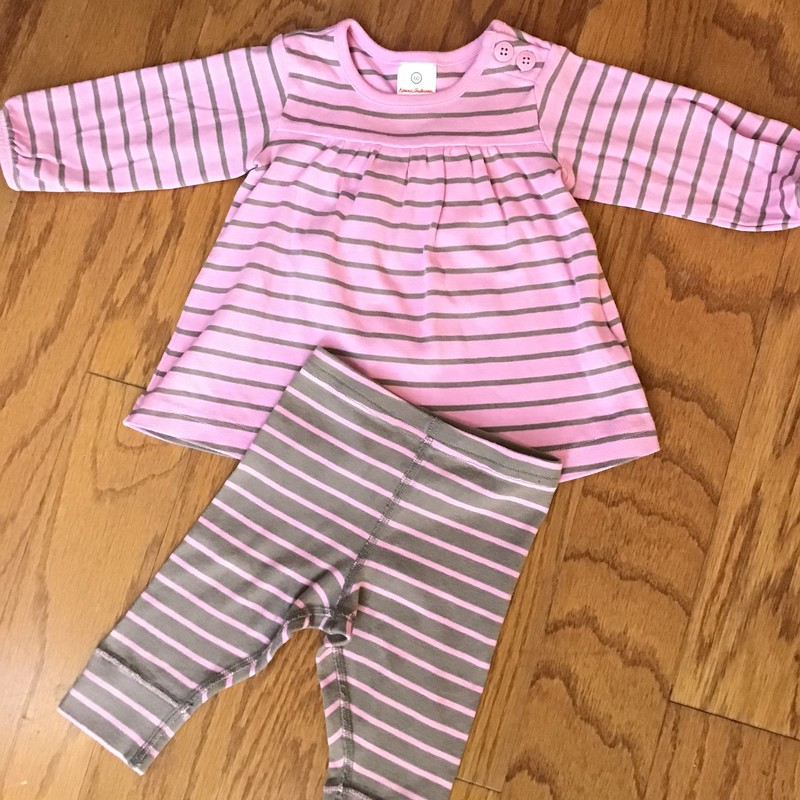 Hanna Andersson 2pc, Pink, Size: 3-6m<br /> <br /> <br /> ALL ONLINE SALES ARE FINAL. NO RETURNS OR EXCHANGES. PLEASE ALLOW 1 TO 2 WEEKS FOR SHIPMENT
