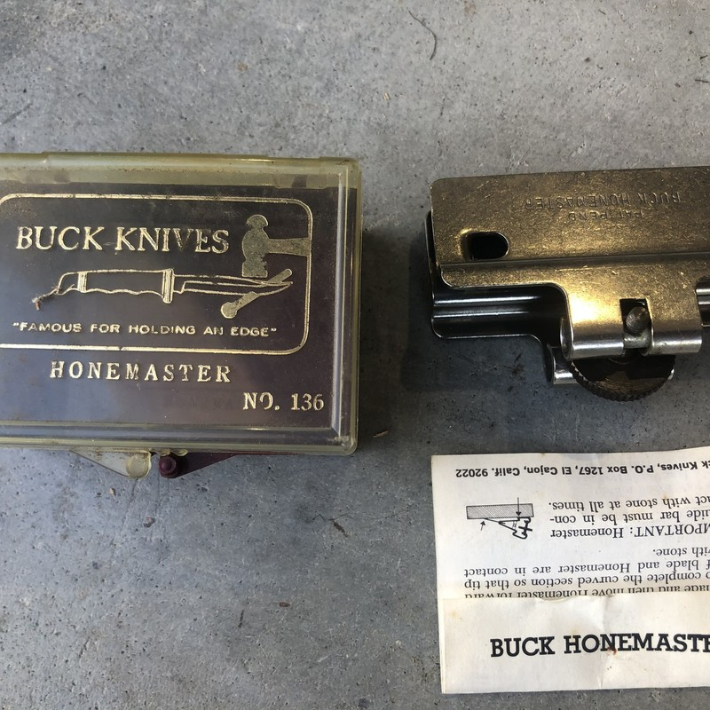 Vintage Buck Knives No. 136 HoneMaster In Original Case with Instructions<br /> <br /> *MADE IN USA*