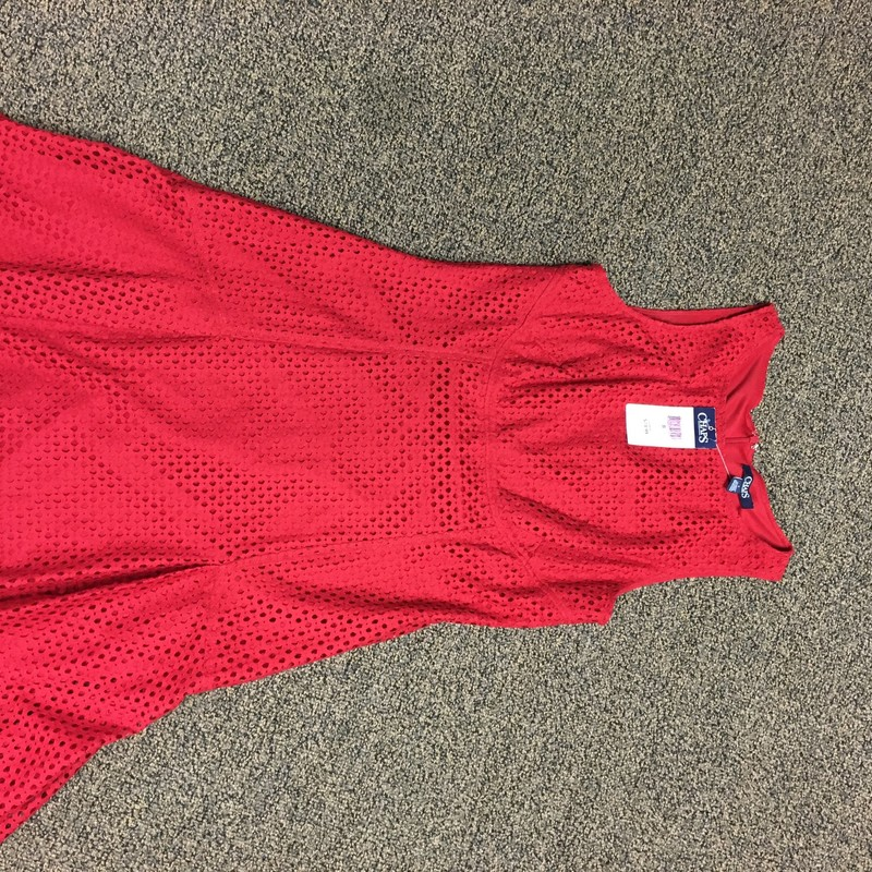 Daydress, Red, Size: 8.  Love this red eyelit dress.  Go patriotic or do your own thing.  Good basic little summer dress.  Great price too!