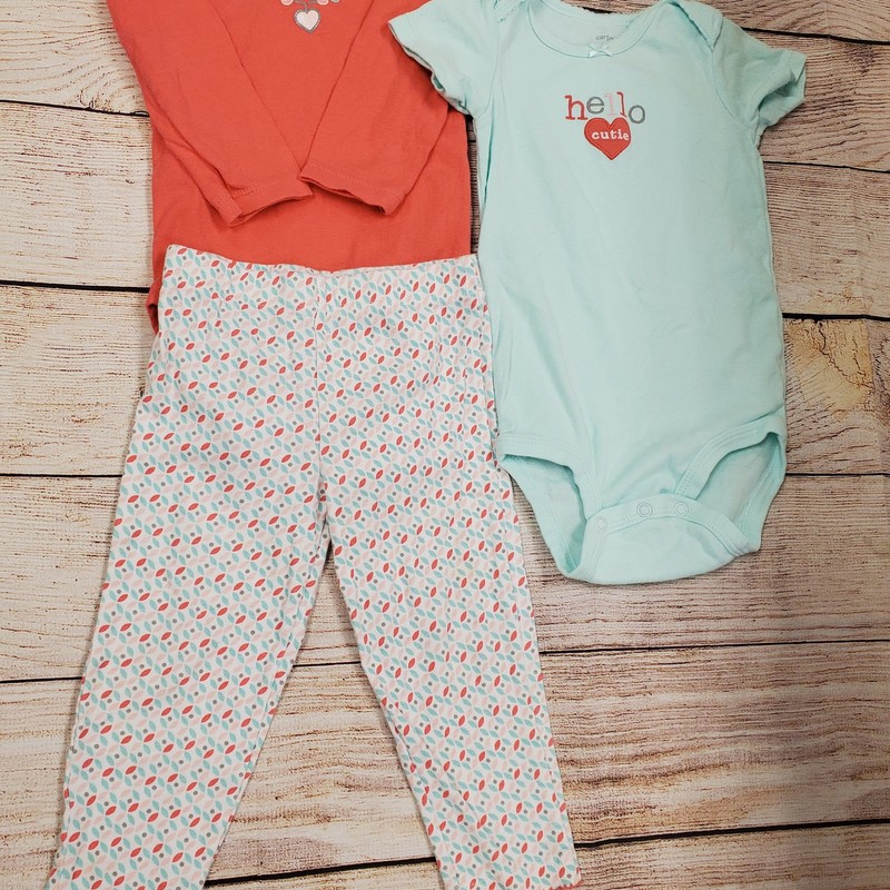 Carters 3 Pc, PnkBlue, Size: 18 Mos G