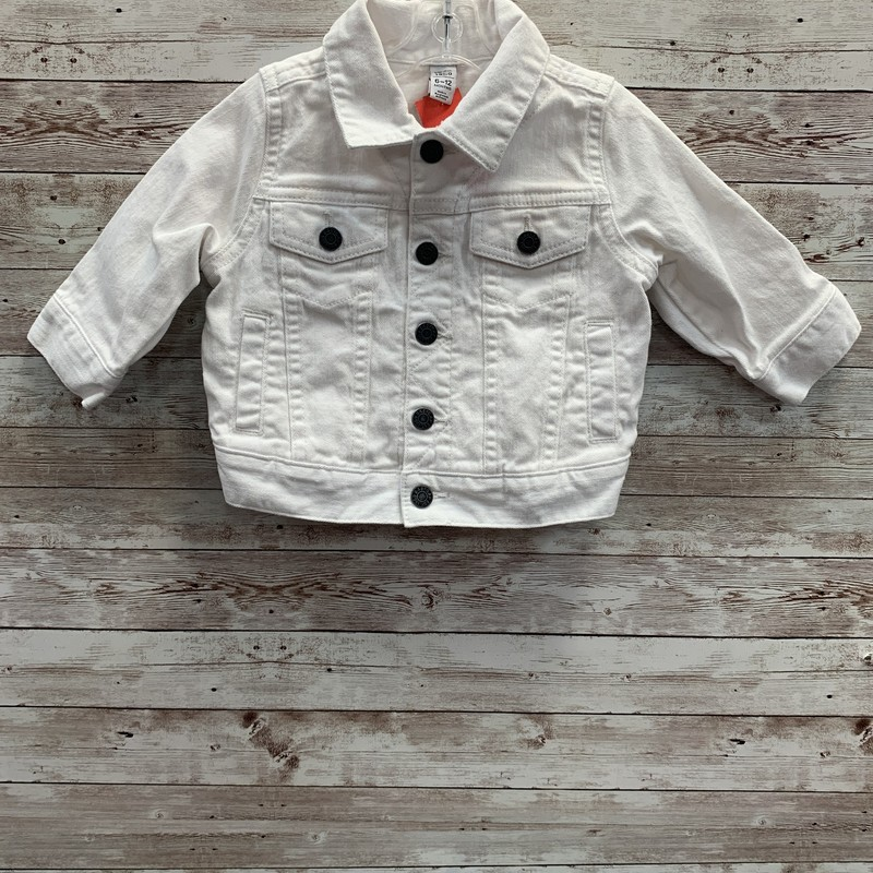 Gap Denim Jacket, White, Size: 6m Girls