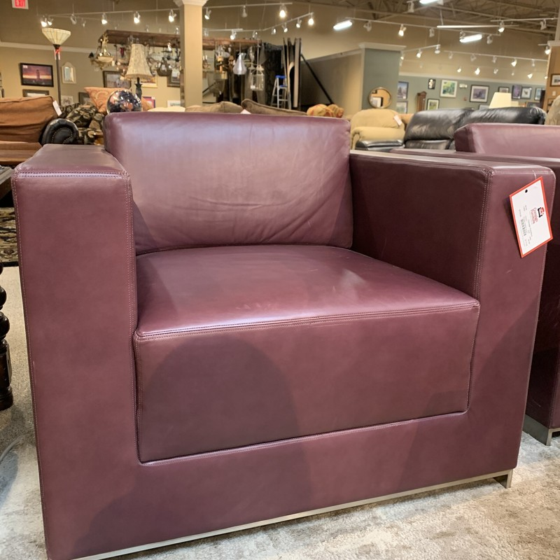 Purple Leather Chair.