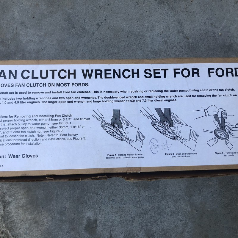 Fan Clutch Wrench Set.