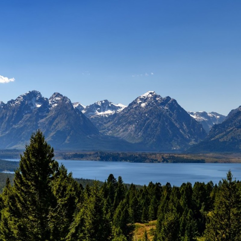 Jackson Lake & The Tetons.