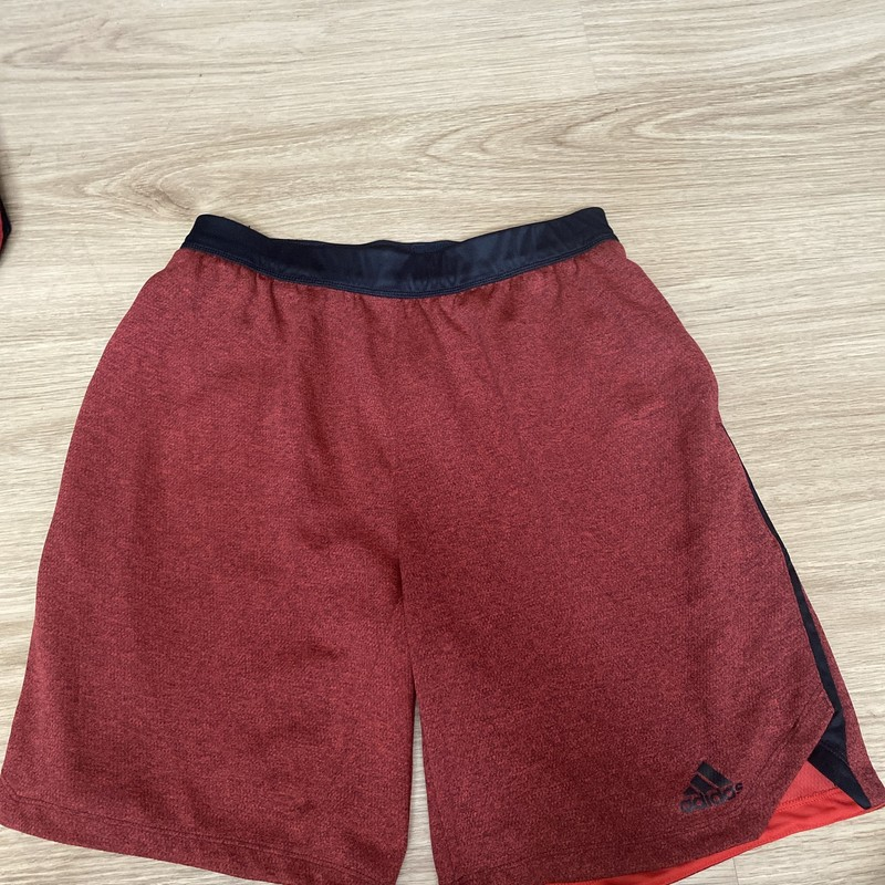 Adidas, Red/blac, Size: 14/16
