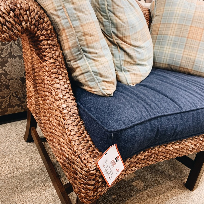 Baker Wicker Loveseat.