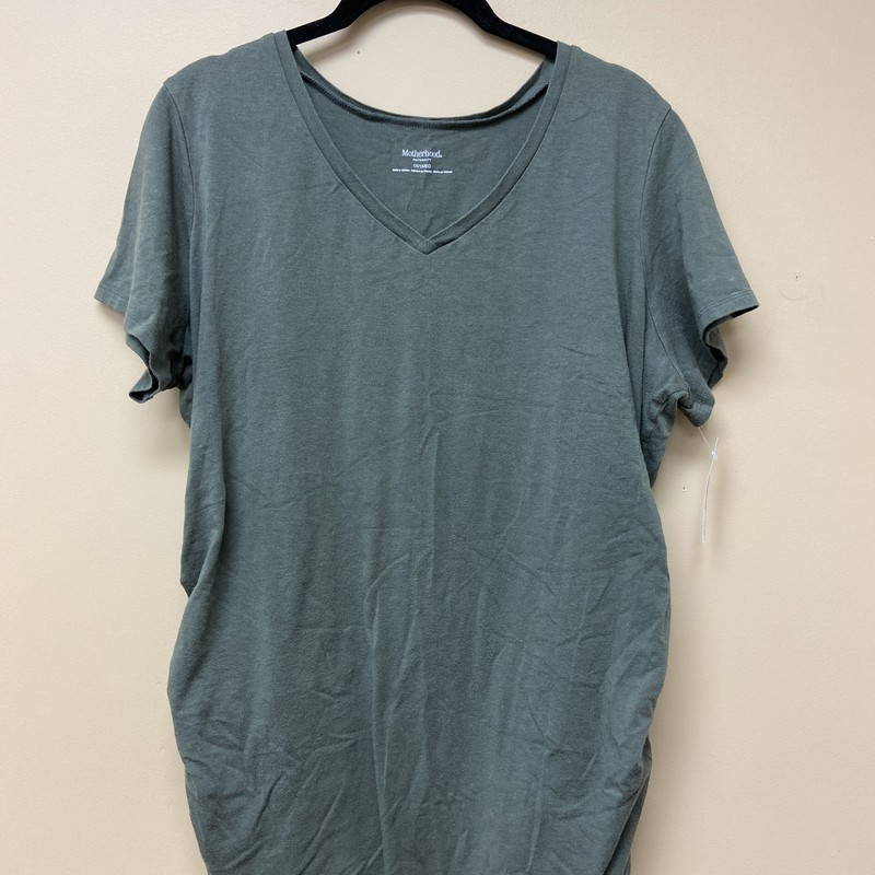 Motherhood Tee, Green, Size: 1X<br /> Condition: Excellent