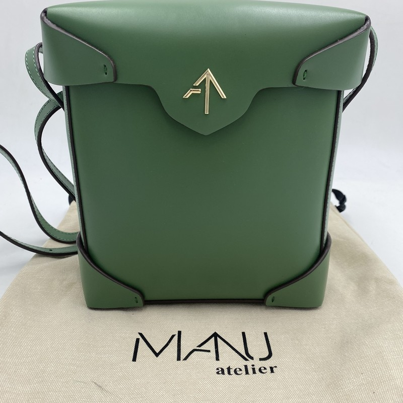 Manu Mini Pristine, Green, Size: OS<br /> <br /> condition: EXCELLENT. Like new.<br /> dust bag included<br /> original retail: $495<br /> <br />  17 cm W X 19 cm H X 6 cm D<br /> 53cm strap drop