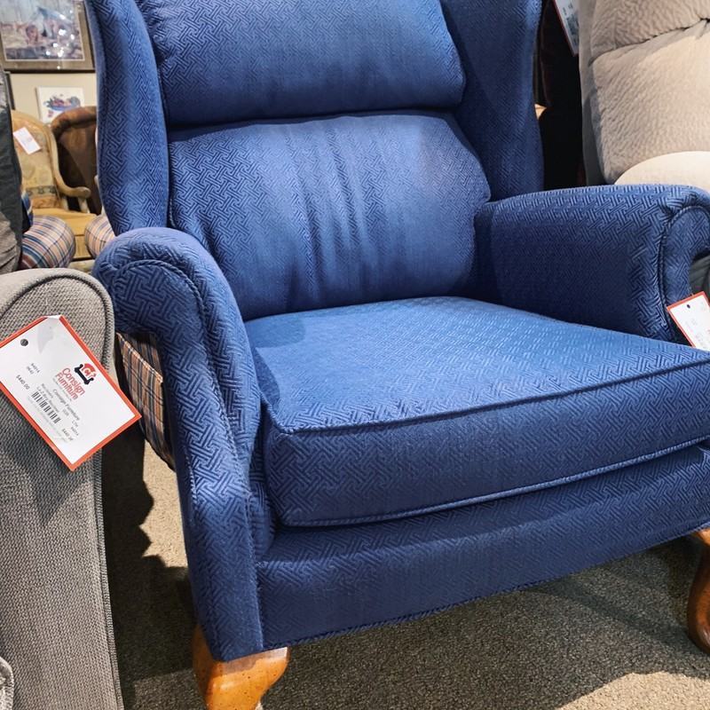 Blue Reclining Wingback, G9, Size: LAH
