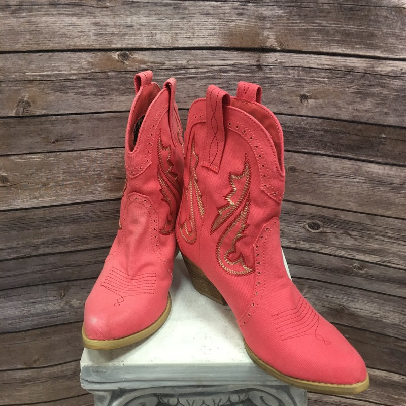 Cowgirl Boots, Pink, Size: 9