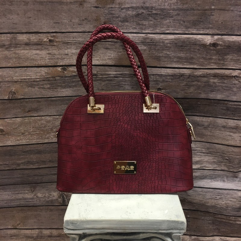 Bebe Purse, Maroon, Size: None
