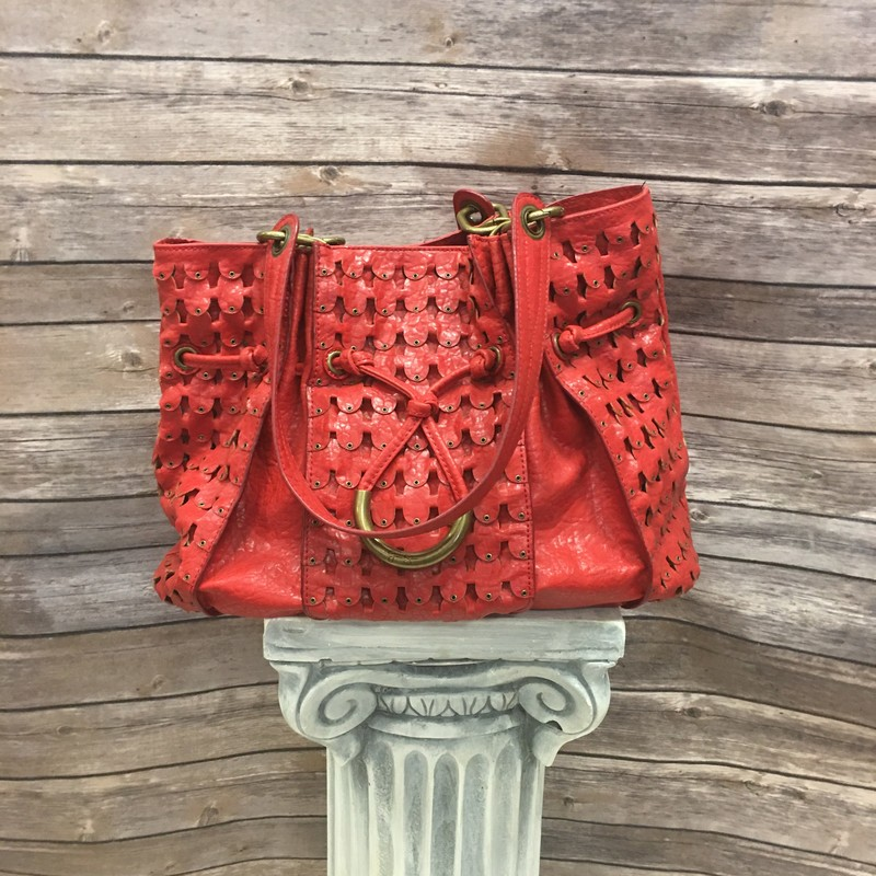 J. Simpson Purse, Red, Size: None