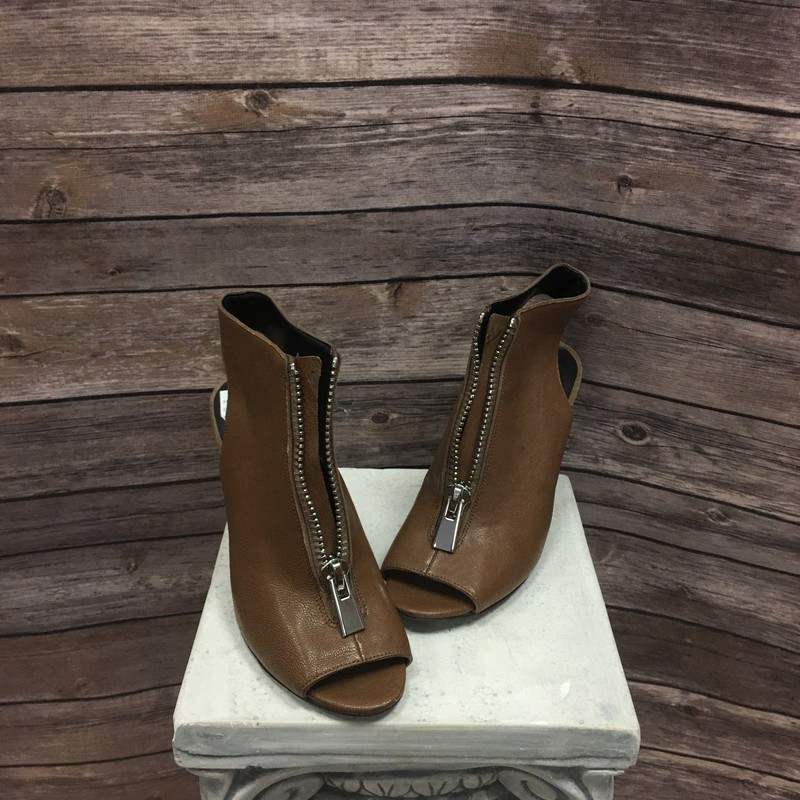 Wedges, Tan, Size: 6.5