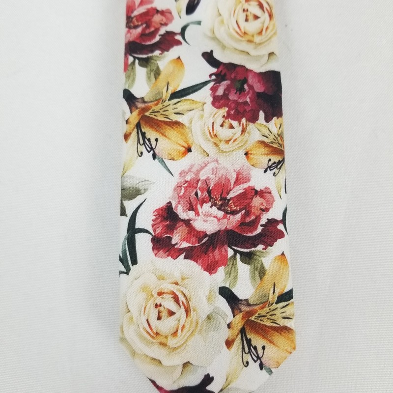 Floral Neckties, Pink/Burgundy<br /> <br /> 5 Blush Available<br /> 5 Burgundy Available