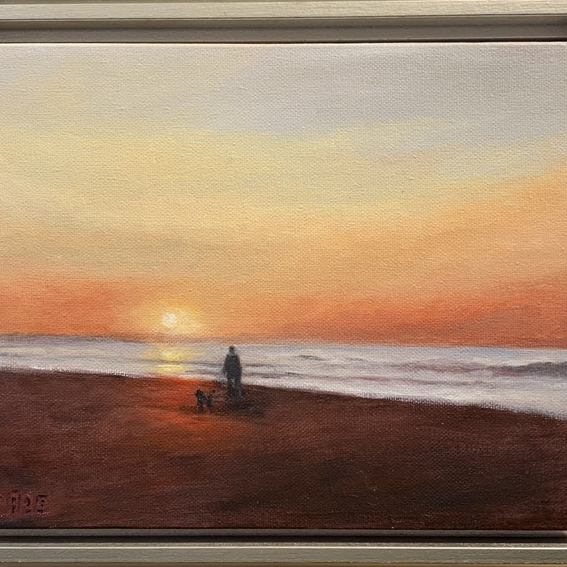 "Title: Sunrise, Artist: Sally Cade, Medium: Oil, Size: 11""x8\"" Framed"