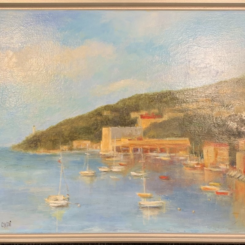 "Title: Mediterranean Magic, Artist: Sally Cade, Medium: Oil, Size: 21""x17"" Framed"