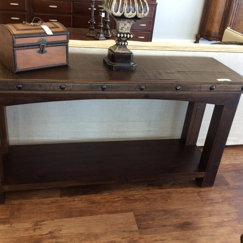 Rustic Sofa Table, Solid Wood