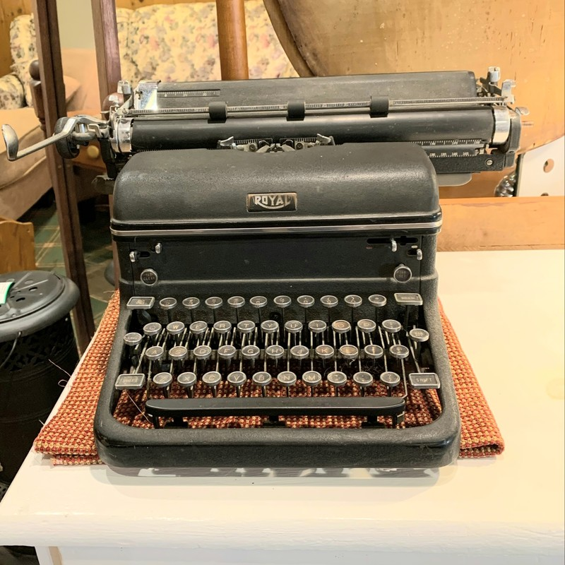 "Royal Portable Typewriter Circa 1930's Size: 19"" x 17"" x 9"""